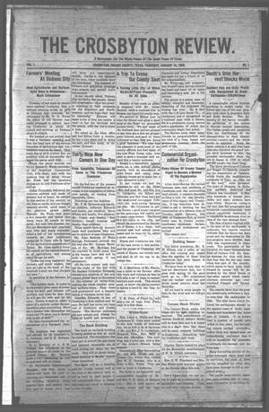 The Crosbyton Review. (Crosbyton, Tex.), Vol. 1, No. 1, Ed. 1 Thursday, January 14, 1909