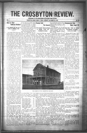 The Crosbyton Review. (Crosbyton, Tex.), Vol. 1, No. 38, Ed. 1 Thursday, September 30, 1909