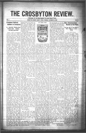 The Crosbyton Review. (Crosbyton, Tex.), Vol. 1, No. 42, Ed. 1 Thursday, October 28, 1909