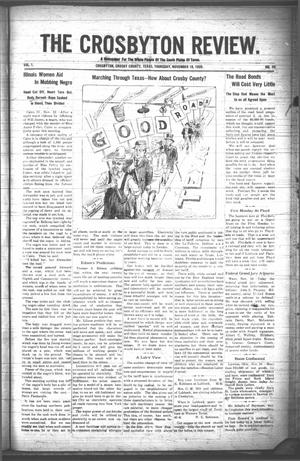 The Crosbyton Review. (Crosbyton, Tex.), Vol. 1, No. 45, Ed. 1 Thursday, November 18, 1909