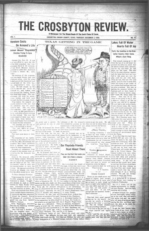 The Crosbyton Review. (Crosbyton, Tex.), Vol. 1, No. 47, Ed. 1 Thursday, December 2, 1909