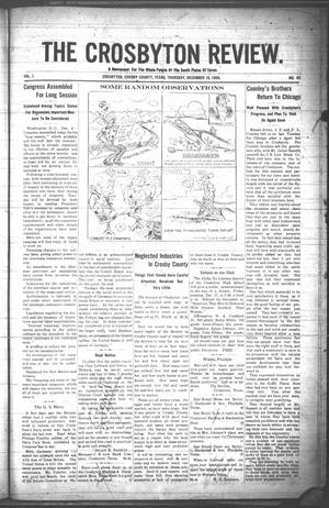 The Crosbyton Review. (Crosbyton, Tex.), Vol. 1, No. 49, Ed. 1 Thursday, December 16, 1909