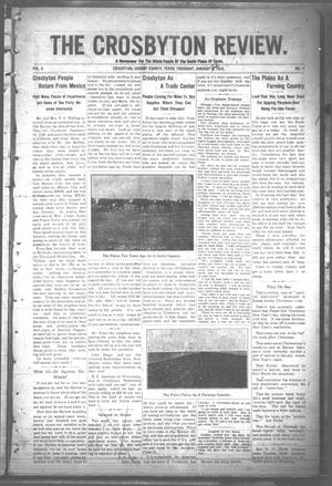 Primary view of object titled 'The Crosbyton Review. (Crosbyton, Tex.), Vol. 2, No. 1, Ed. 1 Thursday, January 13, 1910'.