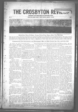 Primary view of object titled 'The Crosbyton Review. (Crosbyton, Tex.), Vol. 2, No. 2, Ed. 1 Thursday, January 20, 1910'.