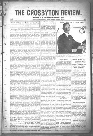 Primary view of object titled 'The Crosbyton Review. (Crosbyton, Tex.), Vol. 2, No. 4, Ed. 1 Thursday, February 3, 1910'.