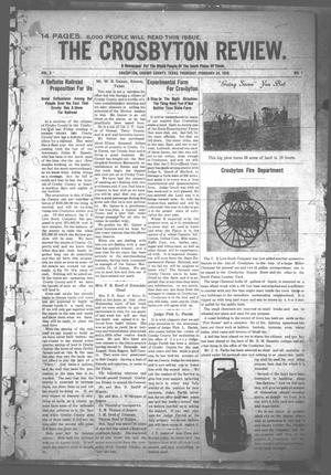 Primary view of object titled 'The Crosbyton Review. (Crosbyton, Tex.), Vol. 2, No. 7, Ed. 1 Thursday, February 24, 1910'.