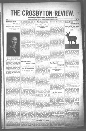Primary view of object titled 'The Crosbyton Review. (Crosbyton, Tex.), Vol. 2, No. 10, Ed. 1 Thursday, March 17, 1910'.