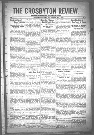 Primary view of object titled 'The Crosbyton Review. (Crosbyton, Tex.), Vol. 2, No. 17, Ed. 1 Thursday, May 5, 1910'.