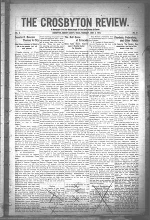 The Crosbyton Review. (Crosbyton, Tex.), Vol. 2, No. 21, Ed. 1 Thursday, June 2, 1910