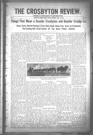 The Crosbyton Review. (Crosbyton, Tex.), Vol. 2, No. 22, Ed. 1 Thursday, June 9, 1910