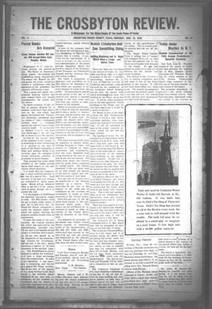 Primary view of object titled 'The Crosbyton Review. (Crosbyton, Tex.), Vol. 2, No. 24, Ed. 1 Thursday, June 23, 1910'.
