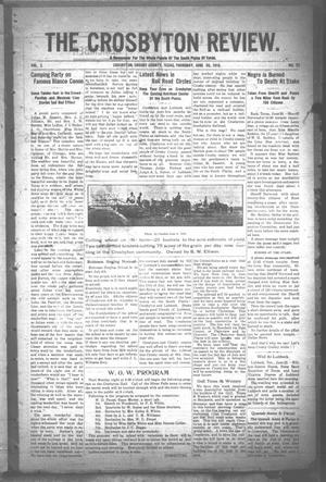 The Crosbyton Review. (Crosbyton, Tex.), Vol. 2, No. 25, Ed. 1 Thursday, June 30, 1910