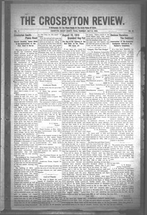 The Crosbyton Review. (Crosbyton, Tex.), Vol. 2, No. 28, Ed. 1 Thursday, July 21, 1910