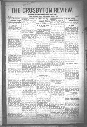 The Crosbyton Review. (Crosbyton, Tex.), Vol. 2, No. 30, Ed. 1 Thursday, August 4, 1910