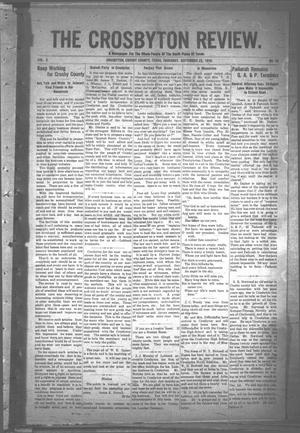 The Crosbyton Review. (Crosbyton, Tex.), Vol. 2, No. 38, Ed. 1 Thursday, September 22, 1910