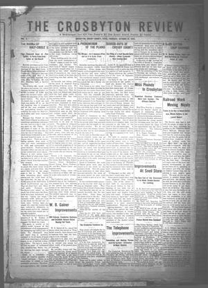 Primary view of object titled 'The Crosbyton Review. (Crosbyton, Tex.), Vol. 2, No. 42, Ed. 1 Thursday, October 20, 1910'.
