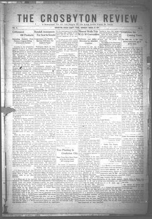 Primary view of object titled 'The Crosbyton Review. (Crosbyton, Tex.), Vol. 3, No. 12, Ed. 1 Thursday, March 23, 1911'.
