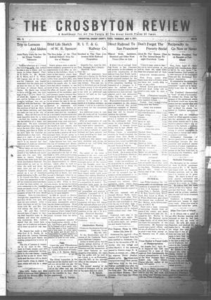 Primary view of object titled 'The Crosbyton Review. (Crosbyton, Tex.), Vol. 3, No. 18, Ed. 1 Thursday, May 4, 1911'.