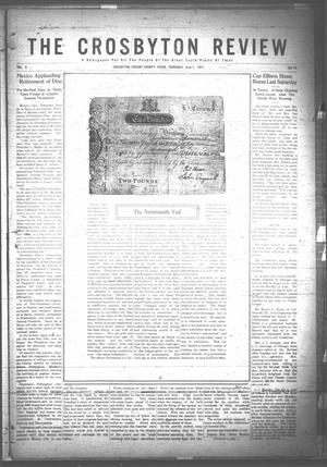 Primary view of object titled 'The Crosbyton Review. (Crosbyton, Tex.), Vol. 3, No. 22, Ed. 1 Thursday, June 1, 1911'.