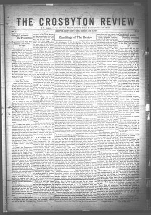 Primary view of object titled 'The Crosbyton Review. (Crosbyton, Tex.), Vol. 3, No. 26, Ed. 1 Thursday, June 29, 1911'.
