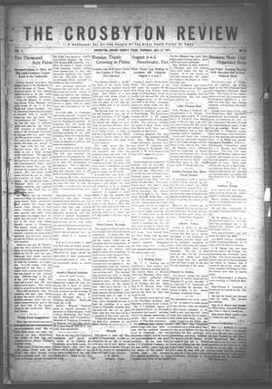 Primary view of object titled 'The Crosbyton Review. (Crosbyton, Tex.), Vol. 3, No. 30, Ed. 1 Thursday, July 27, 1911'.
