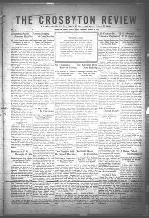 Primary view of object titled 'The Crosbyton Review. (Crosbyton, Tex.), Vol. 3, No. 32, Ed. 1 Thursday, August 10, 1911'.