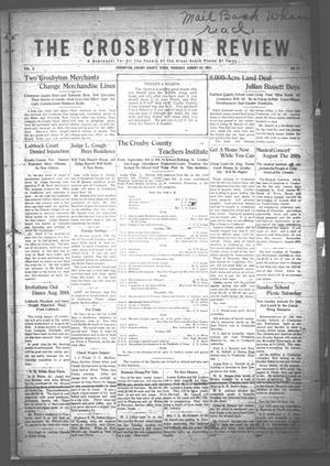 The Crosbyton Review. (Crosbyton, Tex.), Vol. 3, No. 33, Ed. 1 Thursday, August 24, 1911