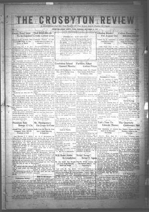 Primary view of object titled 'The Crosbyton Review. (Crosbyton, Tex.), Vol. 3, No. 36, Ed. 1 Thursday, September 14, 1911'.