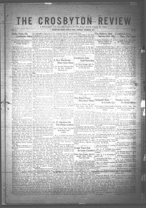 Primary view of object titled 'The Crosbyton Review. (Crosbyton, Tex.), Vol. 3, No. 39, Ed. 1 Thursday, October 5, 1911'.