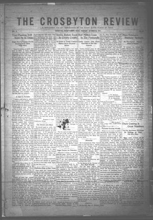 The Crosbyton Review. (Crosbyton, Tex.), Vol. 3, No. 42, Ed. 1 Thursday, October 26, 1911