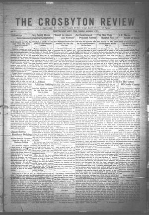 Primary view of object titled 'The Crosbyton Review. (Crosbyton, Tex.), Vol. 3, No. 43, Ed. 1 Thursday, November 2, 1911'.