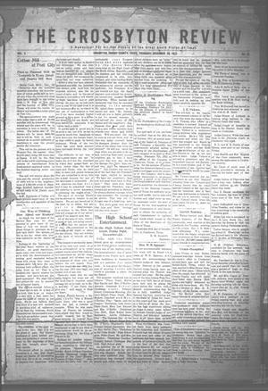 Primary view of object titled 'The Crosbyton Review. (Crosbyton, Tex.), Vol. 3, No. 51, Ed. 1 Thursday, December 28, 1911'.