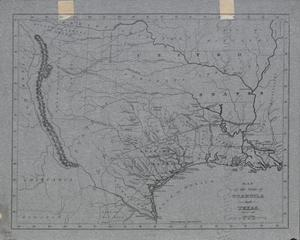Primary view of object titled 'Map of the state of Coahuila and Texas / W. Hooker, sculpt.'.
