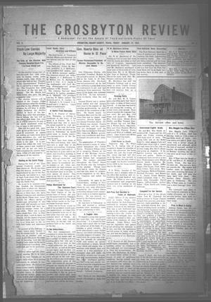 Primary view of object titled 'The Crosbyton Review. (Crosbyton, Tex.), Vol. 8, No. 2, Ed. 1 Friday, January 21, 1916'.