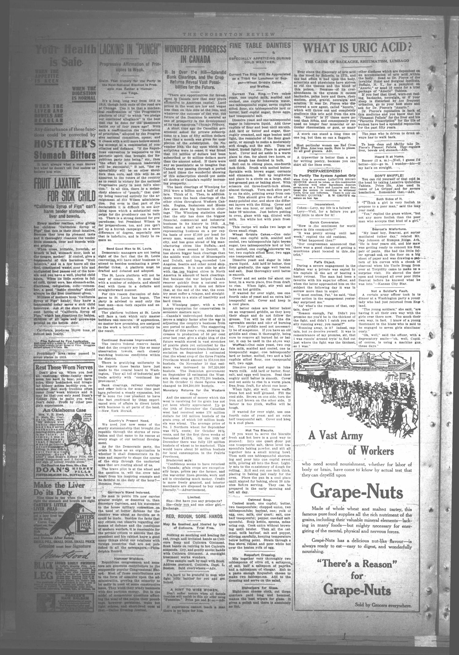 The Crosbyton Review. (Crosbyton, Tex.), Vol. 8, No. 8, Ed. 1 Friday, March 3, 1916                                                                                                      [Sequence #]: 2 of 8