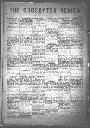 Primary view of object titled 'The Crosbyton Review. (Crosbyton, Tex.), Vol. 8, No. 40, Ed. 1 Friday, November 3, 1916'.