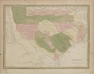 Primary view of object titled '[Map of the Breakdown of Texas Land Grants]'.