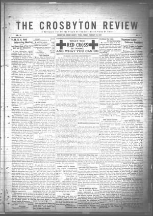 The Crosbyton Review. (Crosbyton, Tex.), Vol. 10, No. 6, Ed. 1 Friday, February 22, 1918