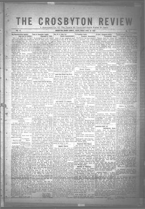 Primary view of object titled 'The Crosbyton Review. (Crosbyton, Tex.), Vol. 12, No. 17, Ed. 1 Friday, April 30, 1920'.