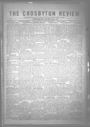 Primary view of object titled 'The Crosbyton Review. (Crosbyton, Tex.), Vol. 13, No. 44, Ed. 1 Friday, November 11, 1921'.