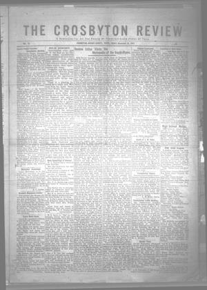 Primary view of object titled 'The Crosbyton Review. (Crosbyton, Tex.), Vol. 13, No. 49, Ed. 1 Friday, December 16, 1921'.