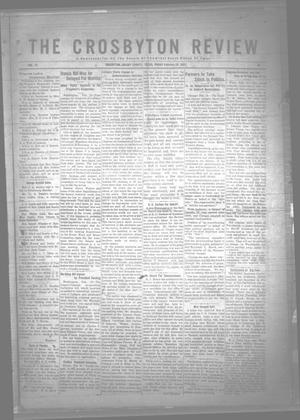 Primary view of object titled 'The Crosbyton Review. (Crosbyton, Tex.), Vol. 14, No. 6, Ed. 1 Friday, February 24, 1922'.