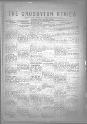 Primary view of object titled 'The Crosbyton Review. (Crosbyton, Tex.), Vol. 14, No. [7], Ed. 1 Friday, March 3, 1922'.