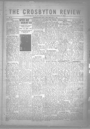 Primary view of object titled 'The Crosbyton Review. (Crosbyton, Tex.), Vol. 14, No. 8, Ed. 1 Friday, March 17, 1922'.