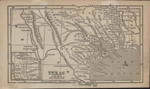 Primary view of object titled '[Map of South Texas Circa 1853]'.