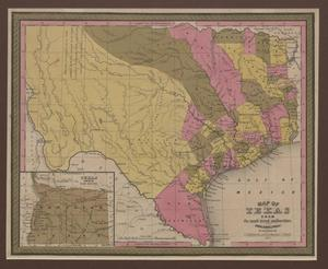 Primary view of object titled 'Map of Texas / from the most recent authorities.'.