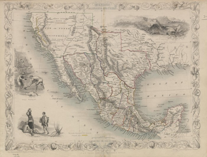Map Of Mexico California And Texas In 1851 The Portal To Texas