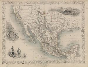 Primary view of object titled '[Map of Mexico, California and Texas in 1851]'.