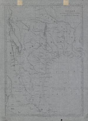 Primary view of object titled '[Map of Texas, Part of Mexico and the United States]'.
