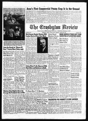 Primary view of object titled 'The Crosbyton Review. (Crosbyton, Tex.), Vol. 50, No. 10, Ed. 1 Thursday, March 6, 1958'.